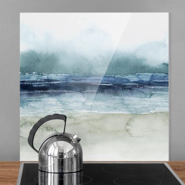 Spritzschutz Glas - Mariner Nebel I - Quadrat 1:1