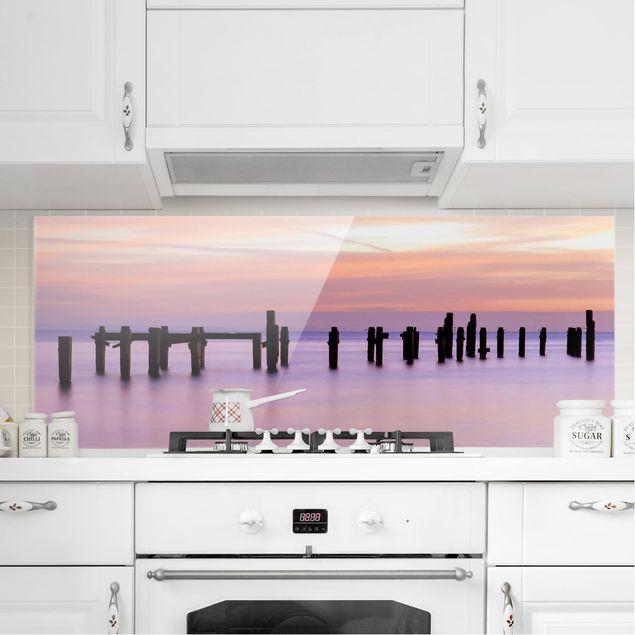 Spritzschutz Glas - Meeresromantik - Panorama Quer
