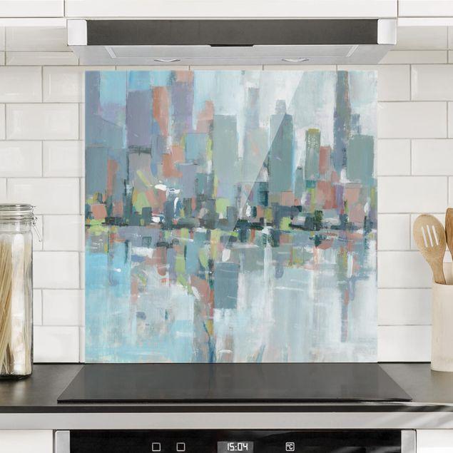 Spritzschutz Glas - Metro City I - Quadrat 1:1