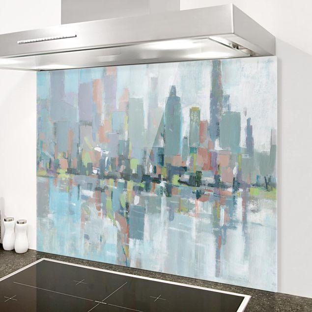 Spritzschutz Glas - Metro City I - Querformat 3:4