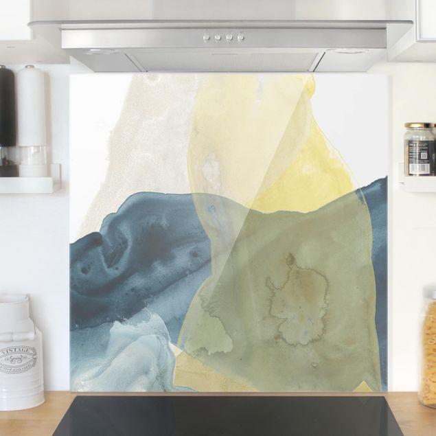 Spritzschutz Glas - Ozean und Wüste III - Quadrat 1:1