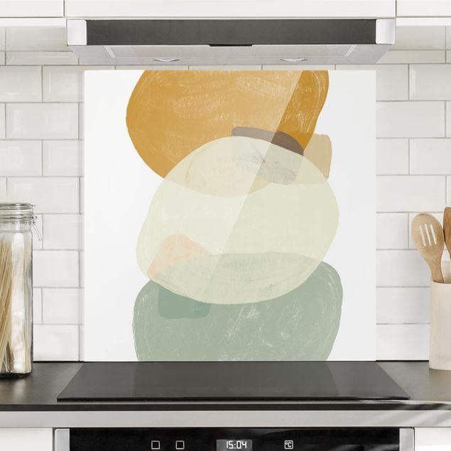 Spritzschutz Glas - Pailletten im Detail III - Quadrat 1:1