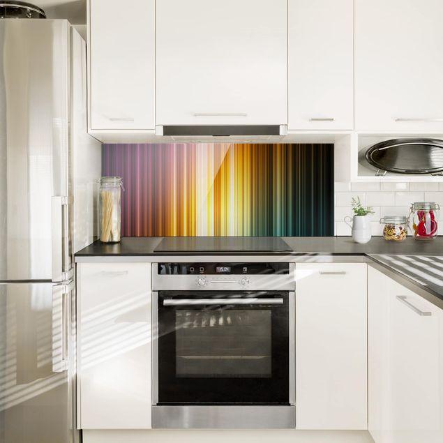 Spritzschutz Glas - Rainbow Light - Panorama Quer