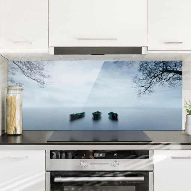 Spritzschutz Glas - Ruhe auf dem See - Panorama Quer