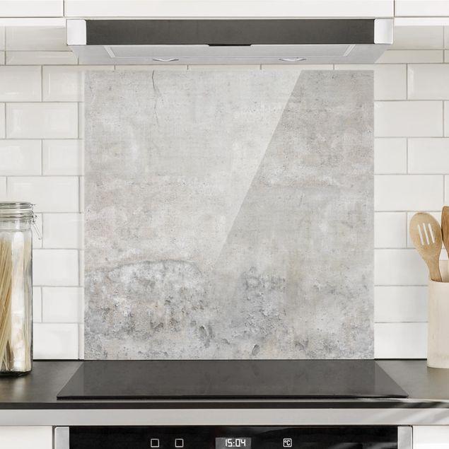 Spritzschutz Glas - Shabby Betonoptik - Quadrat 1:1
