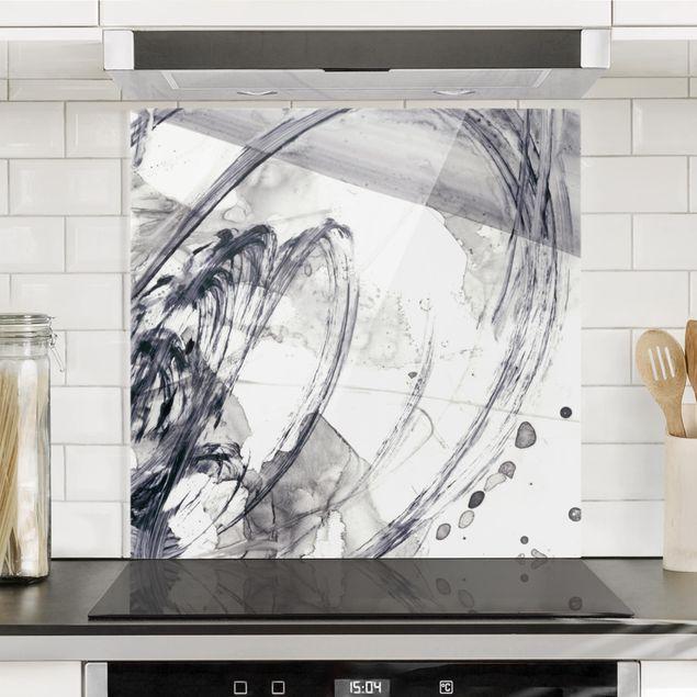 Spritzschutz Glas - Sonar Schwarz Weiß I - Quadrat 1:1