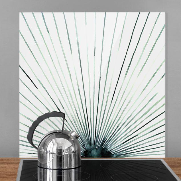 Spritzschutz Glas - Stroboskop - Quadrat 1:1