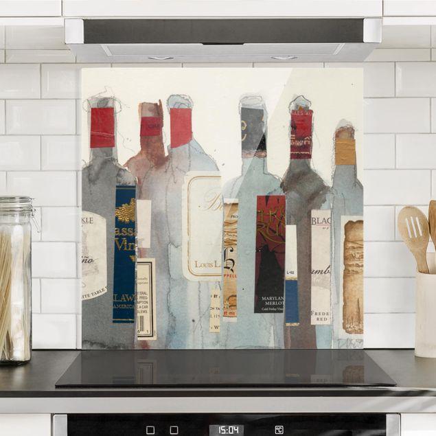 Spritzschutz Glas - Wein & Spirituosen I - Quadrat 1:1