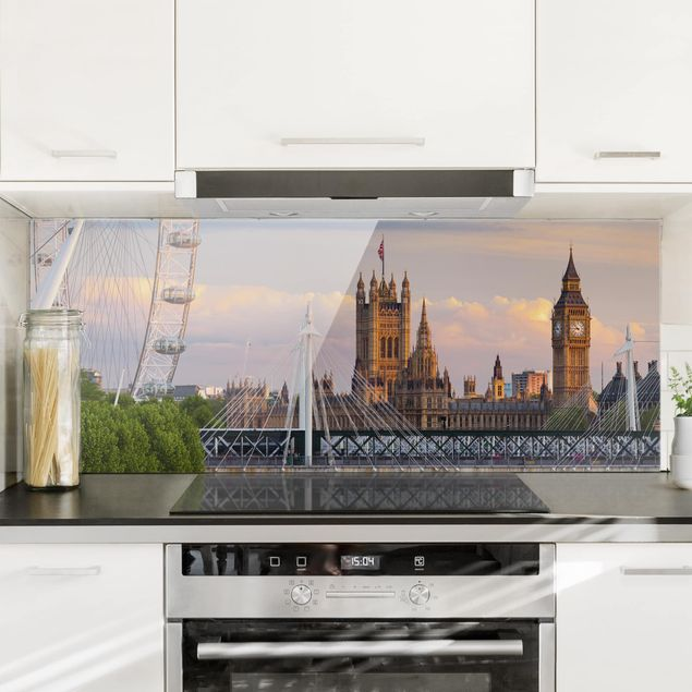 Spritzschutz Glas - Westminster Palace London - Panorama
