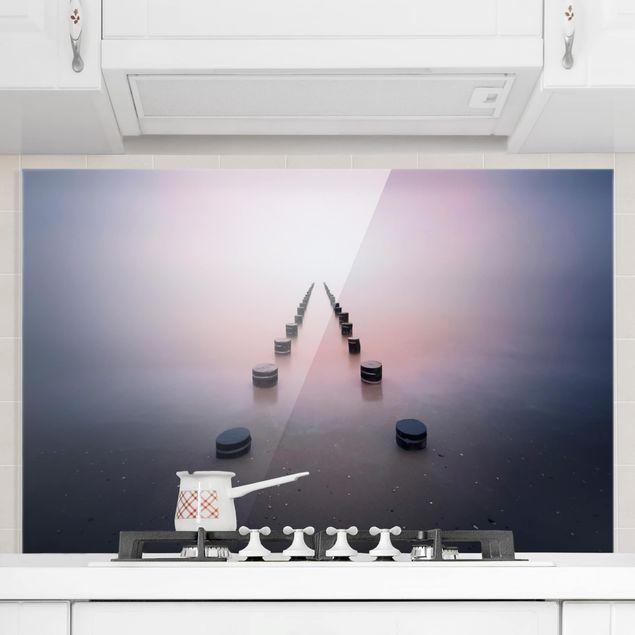 Spritzschutz Glas - Zen am Strand - Querformat 2:3