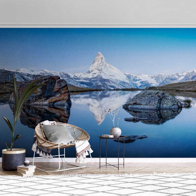 Metallic Tapete - Stellisee vor dem Matterhorn