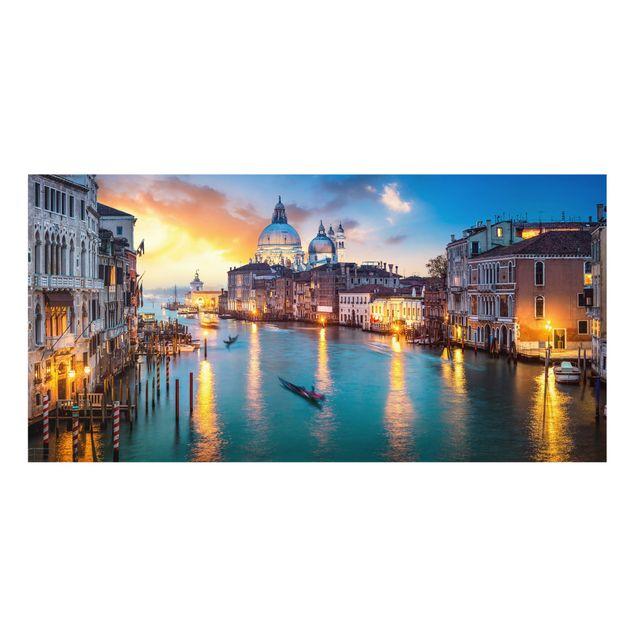 Spritzschutz Glas - Sunset in Venice - Querformat 2:1