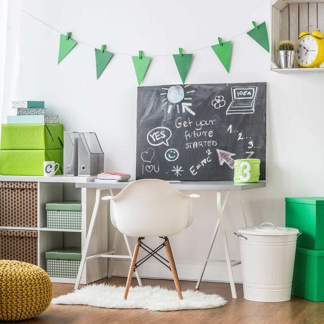 Tafelfolie selbstklebend - Arbeitszimmer - DIY Tafelwand schwarz