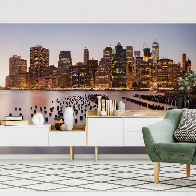 Fototapete - Blick auf Manhattan Skyline