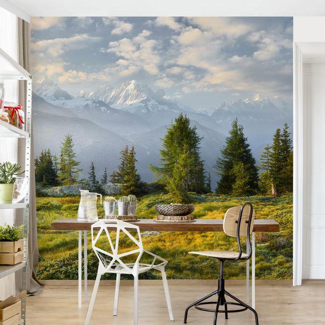 Fototapete - Émosson Wallis Schweiz