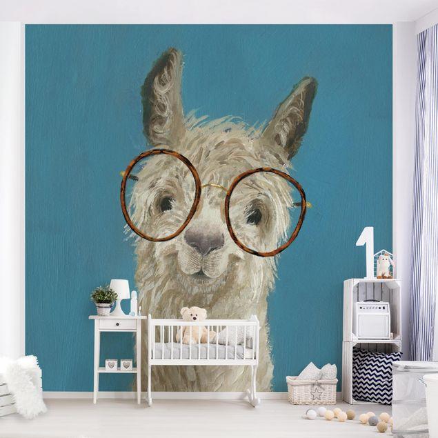 Fototapete - Lama mit Brille I