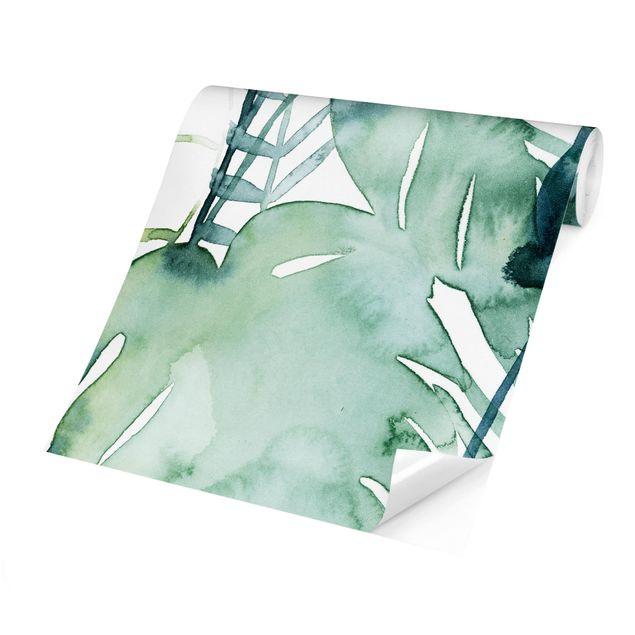 Fototapete - Palmwedel in Wasserfarbe II