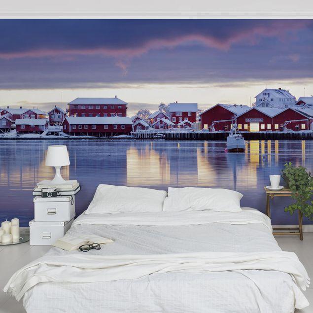 Fototapete - Reine in Norwegen