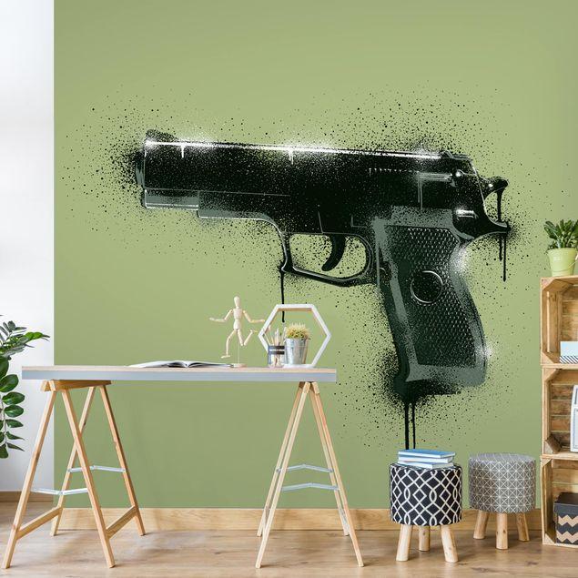 Fototapete - Sprayed Gun