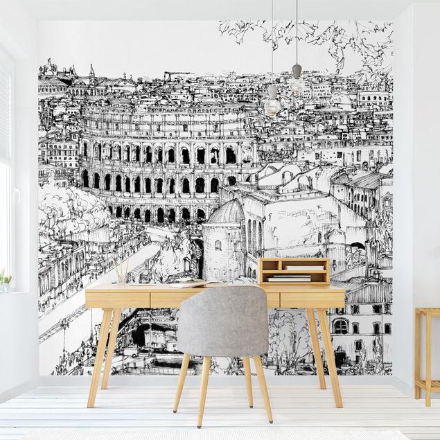 Fototapete - Stadtstudie - Rom