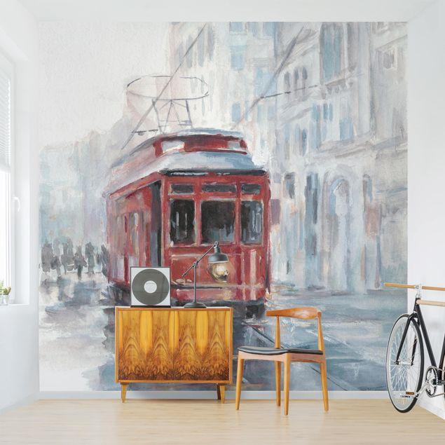 Fototapete - Straßenbahn-Studie II