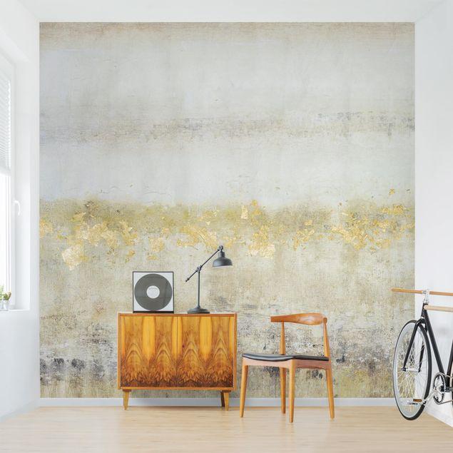 Fototapete - Goldene Farbfelder I