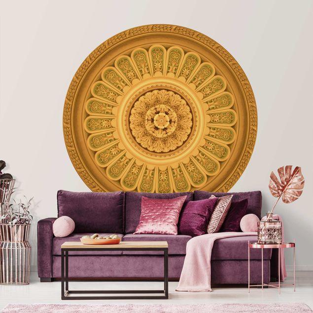 Runde Tapete selbstklebend - Viktorianische Ornamentik im Kreis