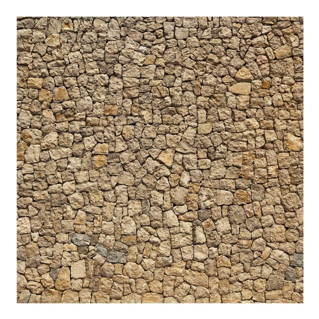 Fototapete Alte Wand aus Pflasterstein