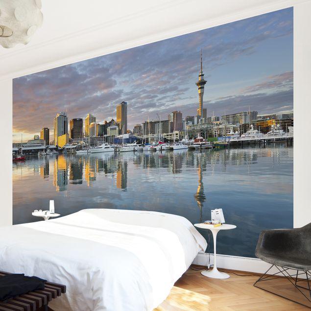 Fototapete Auckland Skyline Sonnenuntergang