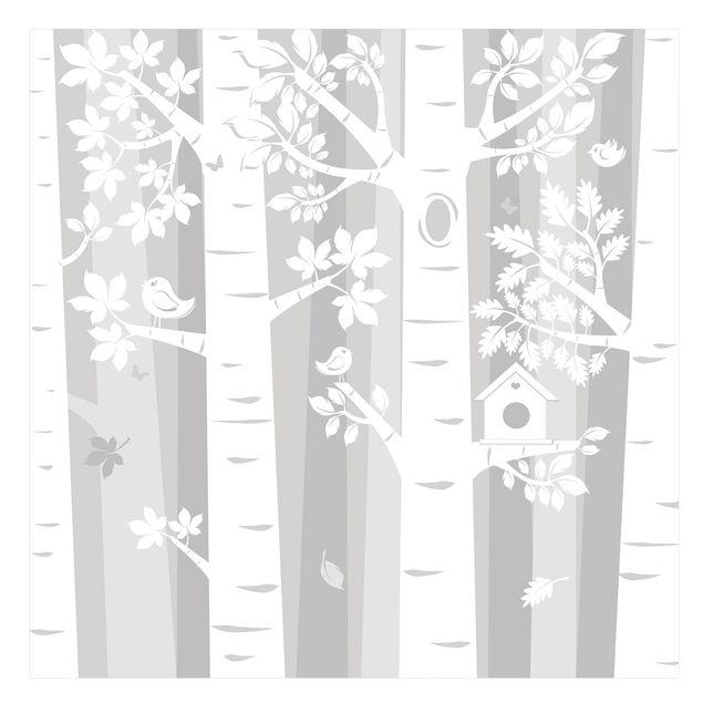 Fototapete Bäume im Wald Grau