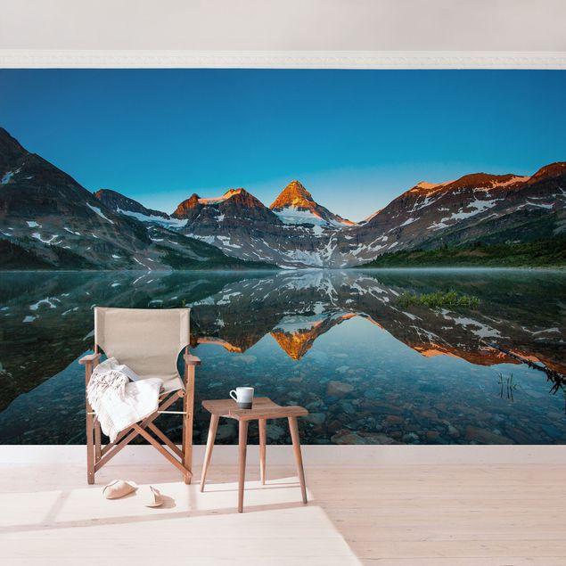 Fototapete Berglandschaft am Lake Magog in Kanada