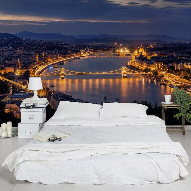 Fototapete Blick über Budapest