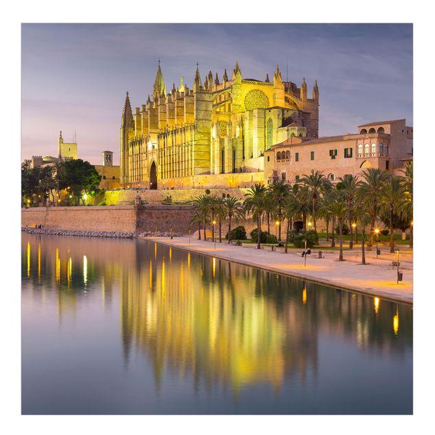 Fototapete Catedral de Mallorca Wasserspiegelung
