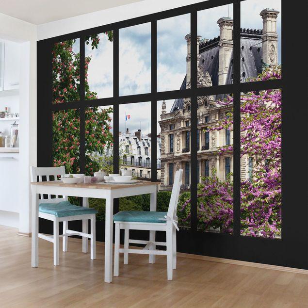 Fototapete Fenster Frühling II Paris