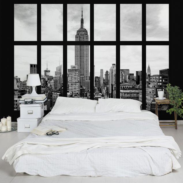 Fototapete Fenster New York Empire State Building
