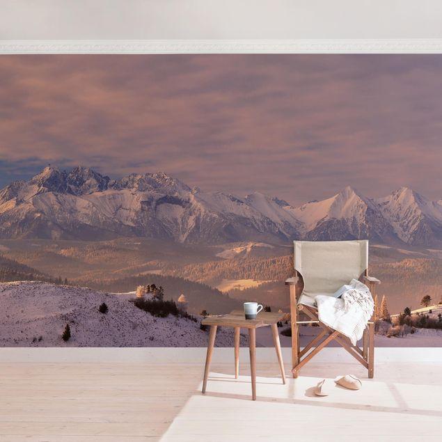 Fototapete Hohe Tatra am Morgen