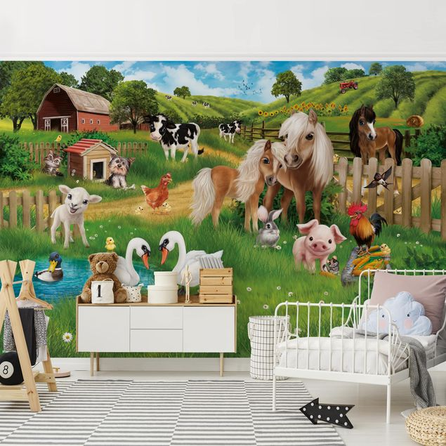 Fototapete Tiere auf dem Bauernhof