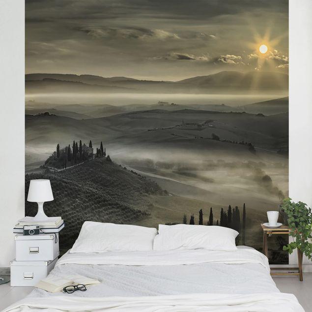 Fototapete Toskana-Morgen