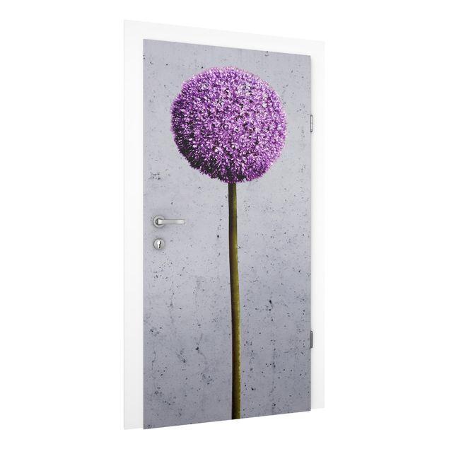 Türtapete - Allium Kugel-Blüten