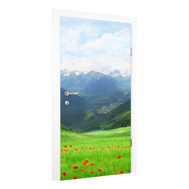 Türtapete - Alpenwiese