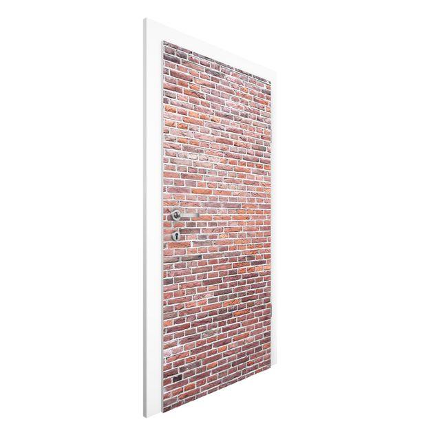 Türtapete - Rote Backstein Mauer