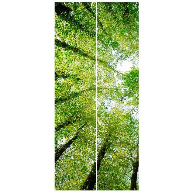 Türtapete - Bäume des Lebens