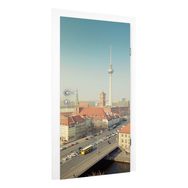 Türtapete - Berlin am Morgen