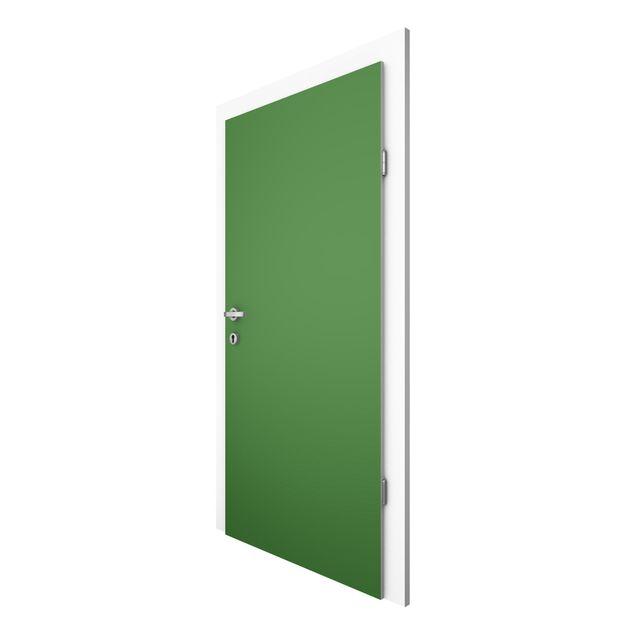 Türtapete - Colour Dark Green