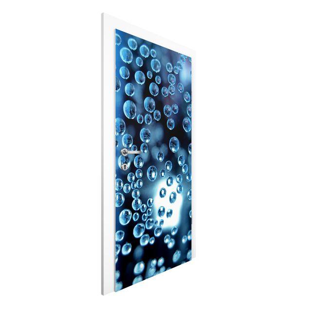 Türtapete - Dark Bubbles