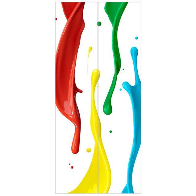 Türtapete - Farbspritzer