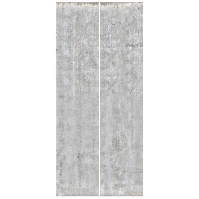 Türtapete - Große Wand mit Betonlook