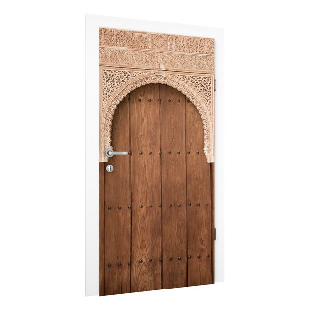 Türtapete - Holztor aus dem Alhambra Palast
