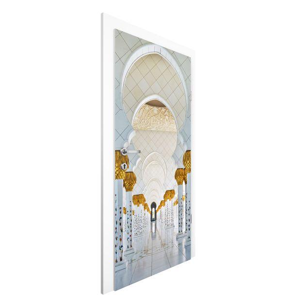 Türtapete - Moschee in Abu Dhabi