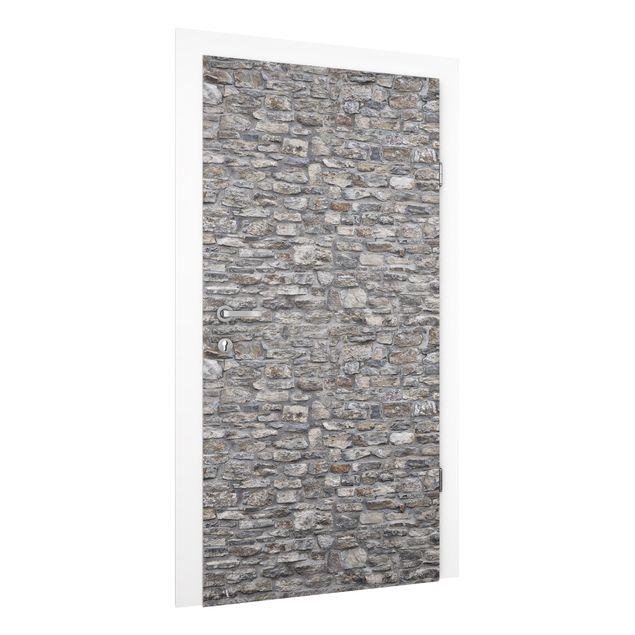 Türtapete - Alte Steinmauer